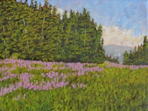 """Wildflowers Gone Wild"" original fine art by Robert Frankis"