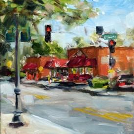"""Plein air oil painting: Dairy Bar"" original fine art by Deb Anderson"