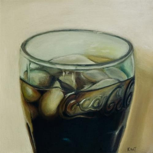 """Glass of Coke"" original fine art by Kim Testone"