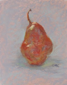 """Pear #2"" original fine art by Catherine Kauffman"