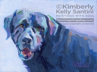 """Melvin"" original fine art by Kimberly Santini"