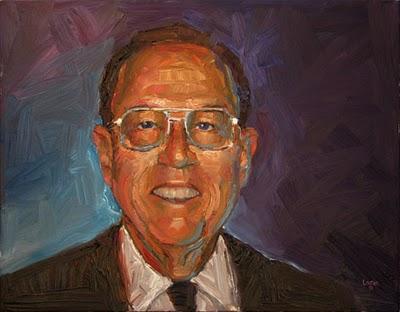 """Commission of Mr. C"" original fine art by Raymond Logan"