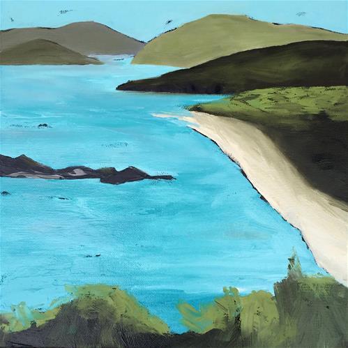 """Caribbean Turquoise"" original fine art by Janet Bludau"
