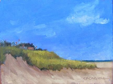 """""""VIEW DOWN NAUSET BEACH An Original Plein Air Oil Painting by Claire Beadon Carnell"""" original fine art by Claire Beadon Carnell"""
