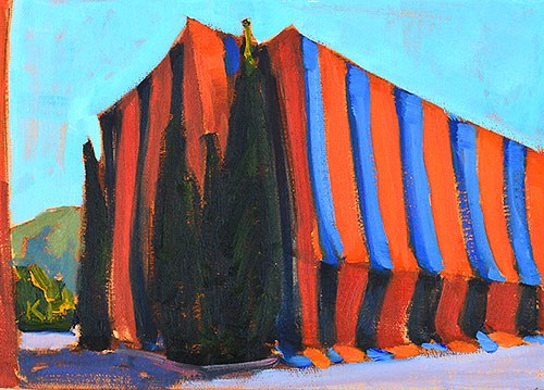 """Termite Tented Motel"" original fine art by Kevin Inman"