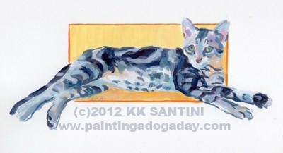 """Maggie Kitten, A Painted Sketch"" original fine art by Kimberly Santini"