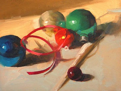 """Holiday Time"" original fine art by Qiang Huang"