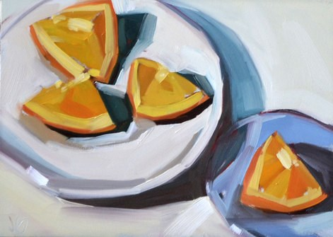 """Plated Oranges"" original fine art by Jessica Green"