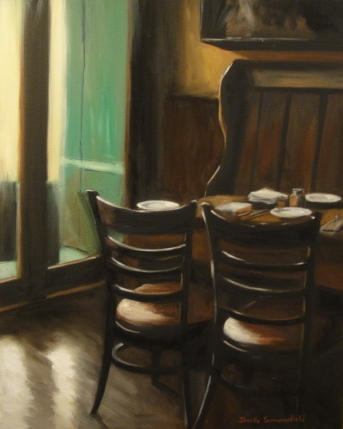 """IRISH PUB"" original fine art by Jonelle Summerfield"