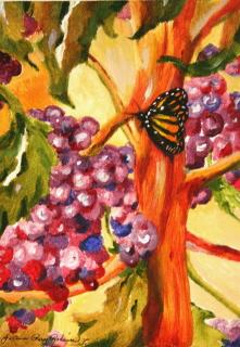 """Wine Tasting"" original fine art by JoAnne Perez Robinson"