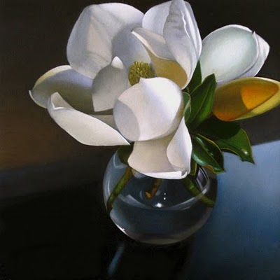 """Magnolia 6x 6"" original fine art by M Collier"