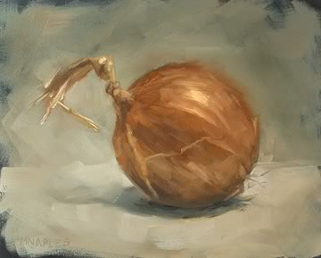 """Yellow Onion"" original fine art by Michael Naples"