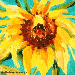 """Christa's Sunflower"" original fine art by JoAnne Perez Robinson"