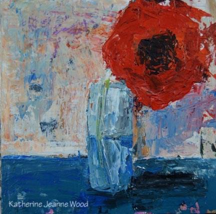 """Floral Series No 23"" original fine art by Katie Jeanne Wood"