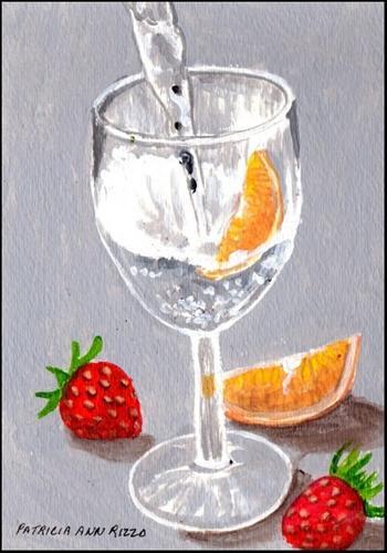 """""""Sparkling Water"""" original fine art by Patricia Ann Rizzo"""