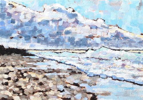 """Coronado Beach Painting, San Diego"" original fine art by Kevin Inman"