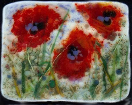 """""""Playing with Poppies and Cherry Blossoms"""" original fine art by Kristen Dukat"""