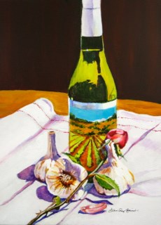 """""""2013 Gift Painting, for the Cook-off"""" original fine art by JoAnne Perez Robinson"""