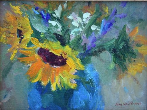 Spring Bouquet Flower Paintings by Arizona Artist Amy Whitehouse original fine art by Amy Whitehouse