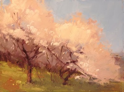 """Blossoming Spring"" original fine art by Laurel Daniel"