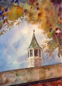 """#3/30 in 30 - Fine Arts Tower"" original fine art by Lyn Gill"