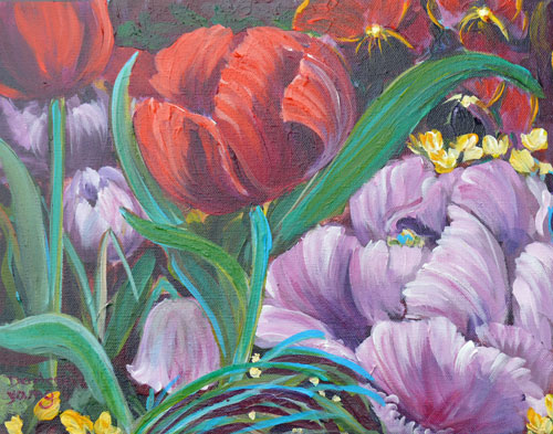"""Spring Joy"" original fine art by Darlene Young"