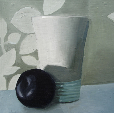 """Chinese Plum and Ceramic Cup"" original fine art by Michael William"