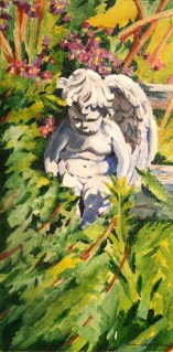 """Guarding the Garden"" original fine art by JoAnne Perez Robinson"