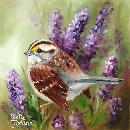 """The Smell of Lavender"" original fine art by Paulie Rollins"
