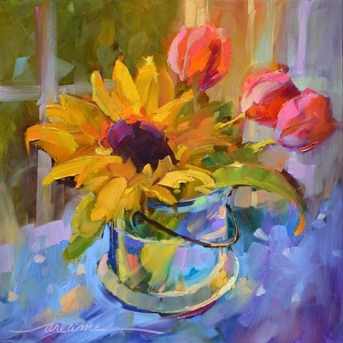 """A Colorful Kind of Joy"" original fine art by Dreama Tolle Perry"