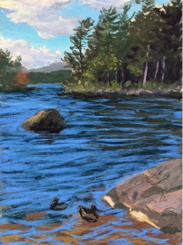 """SACANDAGA LAKE, THE ADIRONDACKS"" original fine art by Marti Walker"