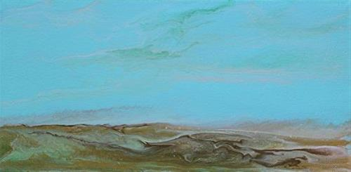 """Contemporary Abstract Seascape Painting,Coastal Art Gulf Days - Mini# 3 by International Contempor"" original fine art by Kimberly Conrad"