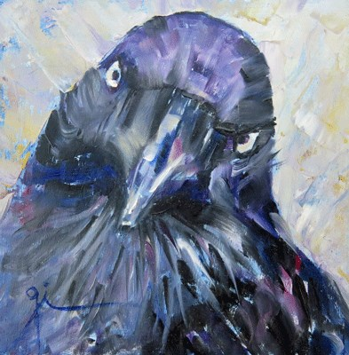 """Caw"" original fine art by Gigi De"
