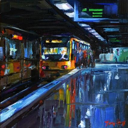 """""""Stuttgart, HBH"""" original fine art by Jurij Frey"""