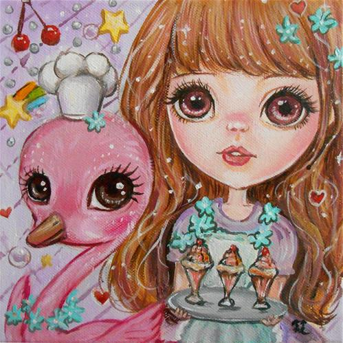 """""""Cool-headed Dessert Chef"""" original fine art by Nicole Chen"""