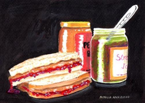 """PB&J"" original fine art by Patricia Ann Rizzo"