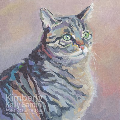"""Striped and Soft"" original fine art by Kimberly Santini"