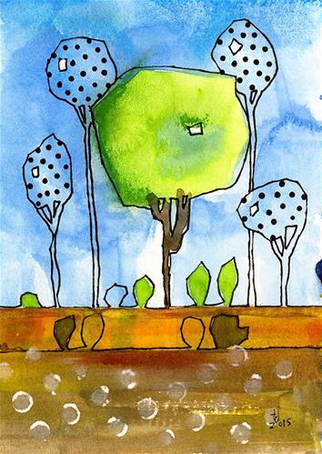 """Parkish - 1"" original fine art by Tonya Doughty"
