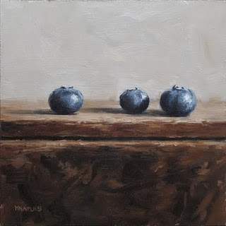 """Blueberry Row"" original fine art by Michael Naples"