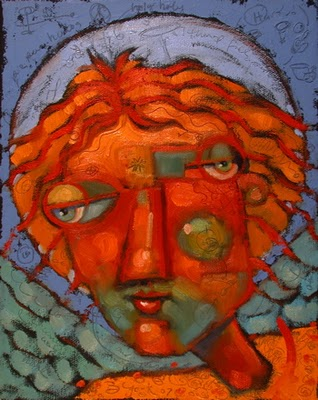 """Guardian Angel Of Wavering Sanity"" original fine art by Brenda York"