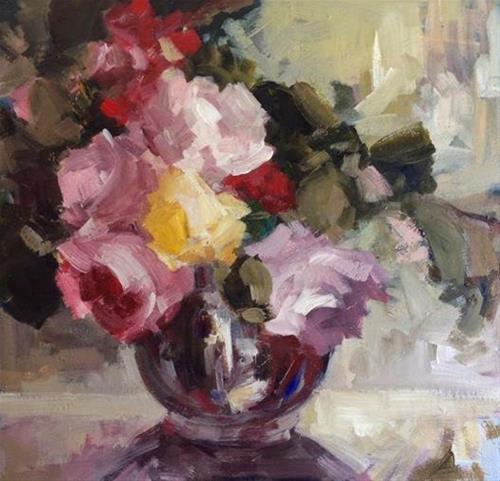 """Vase of happiness"" original fine art by Parastoo Ganjei"
