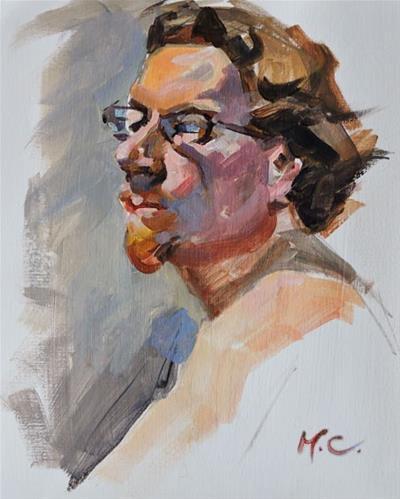 """""""Head Study"""" original fine art by Michelle chen"""