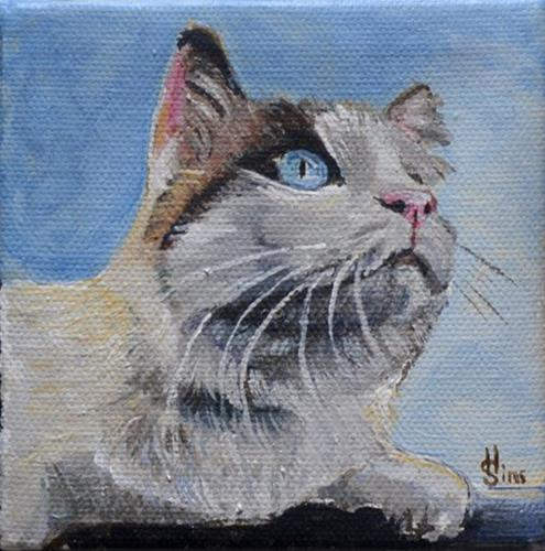 """Merlin"" original fine art by Heather Sims"