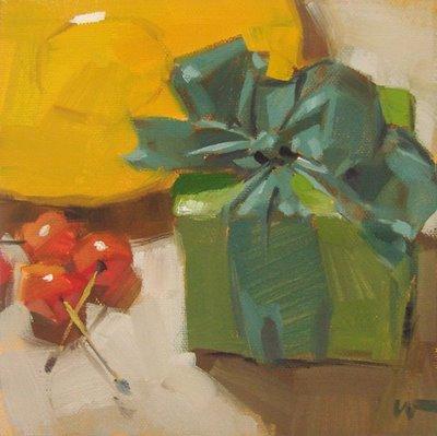 """An Early Gift"" original fine art by Carol Marine"