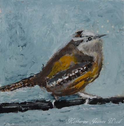 """""""Bird Series No 1"""" original fine art by Katie Jeanne Wood"""