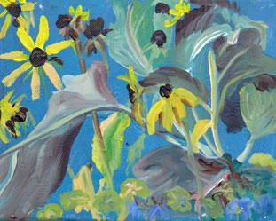 """Brown Eyed Susans"" original fine art by Darlene Young"