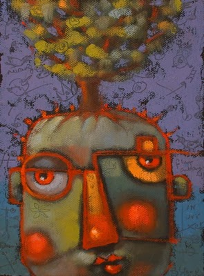 """Tree Hugger"" original fine art by Brenda York"