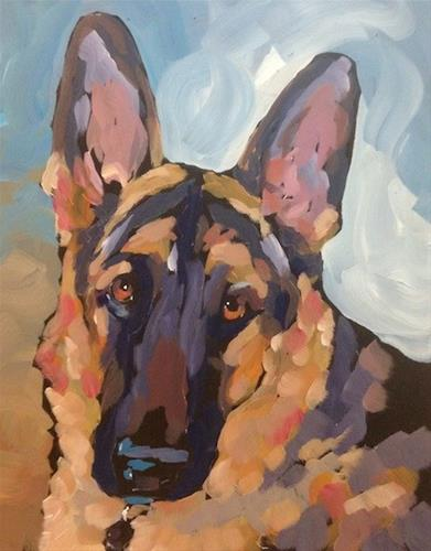 """Zeus"" original fine art by Kat Corrigan"