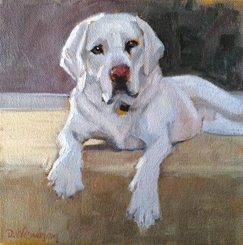 """Gus"" original fine art by Deborah Newman"