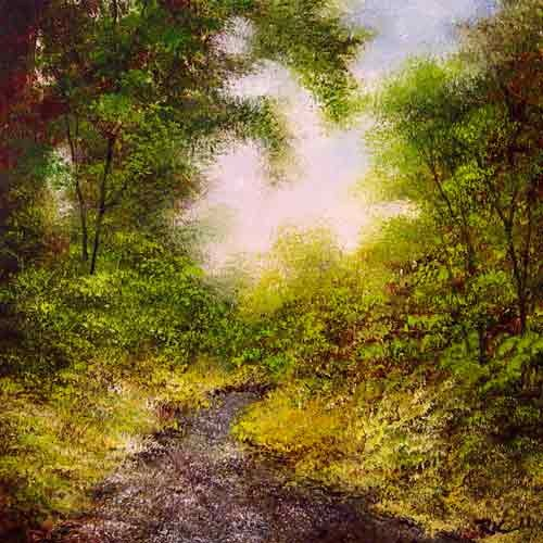 """Gravel Road"" original fine art by Bob Kimball"